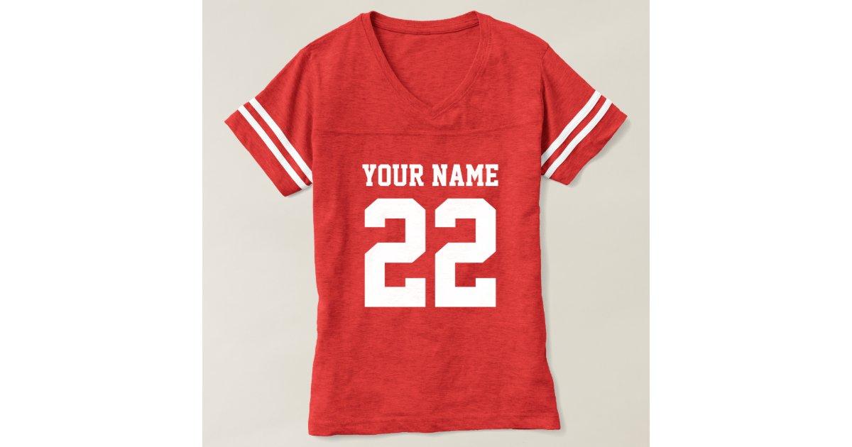 Personalized striped womens football jersey shirts zazzle for Custom football jersey shirts