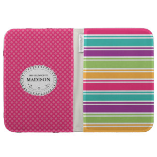 Personalized Stripes Caseable Kindle Case Cover
