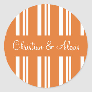 Personalized Stripes Envelope Sticker Seal