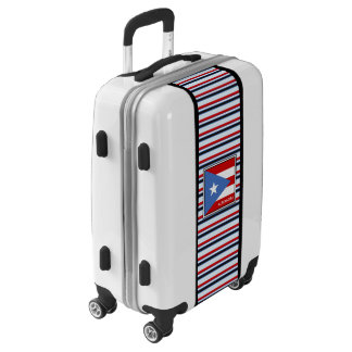 Personalized: Stripes: Puerto Rico Flag Luggage