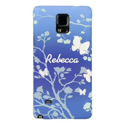 Personalized Stylish Butterflies Summer Evening Galaxy Note 4 Case