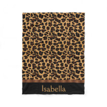Personalized Stylish Chic Animal Leopard Print Fleece Blanket