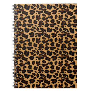 Personalized Stylish Chic Animal Leopard Print Spiral Notebook