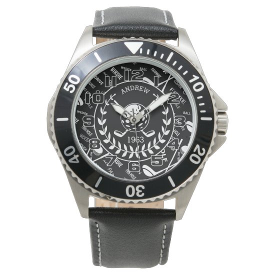 Personalized  stylish golf logo Birthday Watch