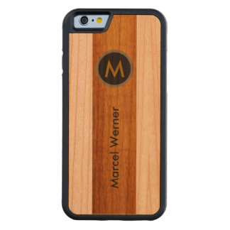 personalized stylish monogram carved® cherry iPhone 6 bumper