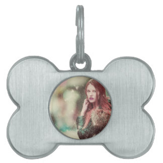 Personalized Stylish Vintage Model Design Pet ID Tags