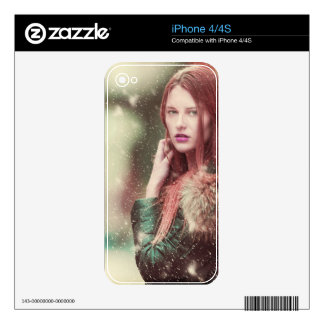 Personalized Stylish Vintage Model Design Skin For iPhone 4