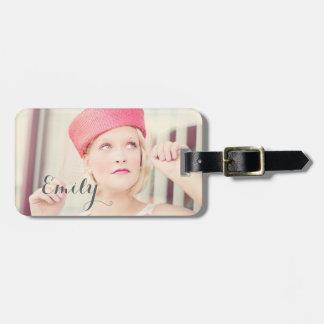 Personalized Stylish Vintage Model luggage tag