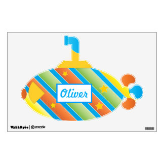 Personalized Submarine Baby Boy Toddler Wall Decal