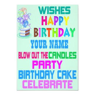 Personalized Subway Art Birthday Party Invitation
