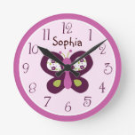 Personalized Sugar Plum/Butterfly Clock