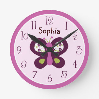 Personalized Sugar Plum Butterfly Clock