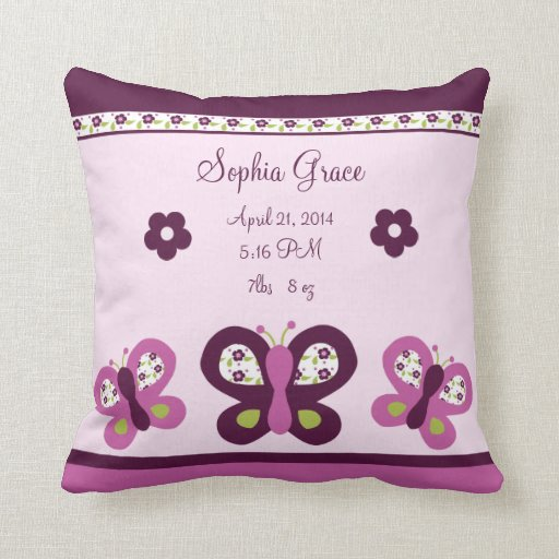 Personalized Sugar Plum Butterfly Keepsake Pillow