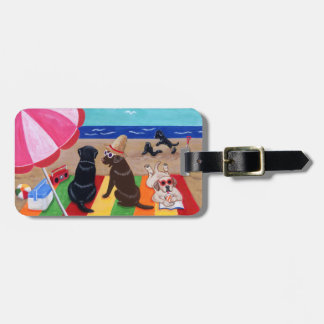 Personalized Summer Breeze Labradors Painting Luggage Tag
