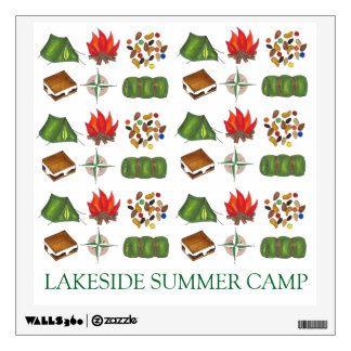 Personalized Summer Camp Camper Camping Wall Decal