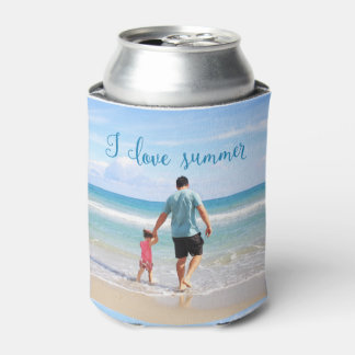 Personalized Summer Can Cooler Add Photo