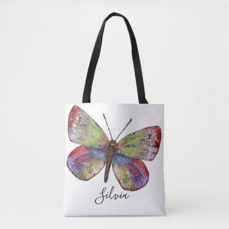 Personalized Summer Feelings Butterfly Tote Bag