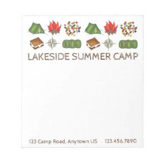 Personalized Summer Sleepaway Camp Camping Pad
