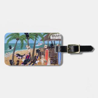 Personalized Summer Vacation Labradors Bag Tag