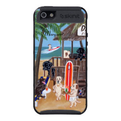 Personalized Summer Vacation Labradors Painting Case For iPhone 5