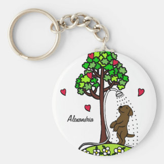 Personalized Summer Water Fun Chocolate Labrador Keychains