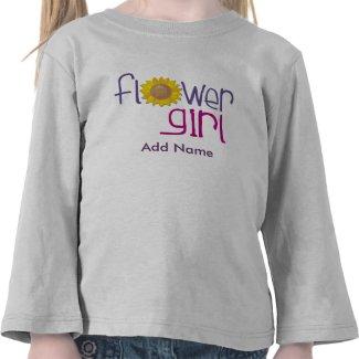 Personalized Sun Flowergirl T-shirts shirt