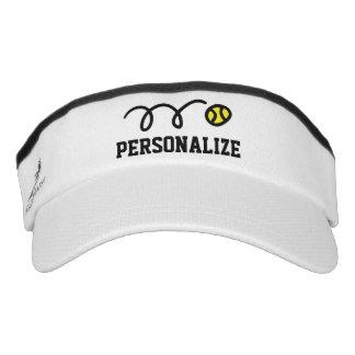 Personalized sun visor cap for tennis player coach