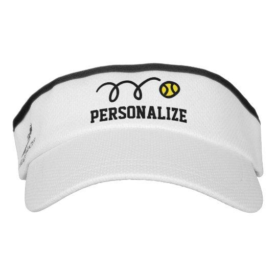 b8aadd11a6f Personalized sun visor cap for tennis player coach