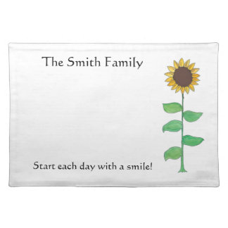 Personalized, Sunflower American MoJo Placemat