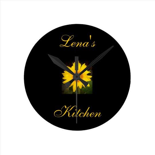 Charmant Personalized Sunflower Clock Lenau0027s Kitchen Round Clock