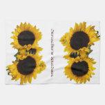 Personalized Sunflower Custom Hand Towel