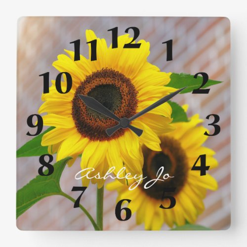 Personalized Sunflower Wall Clock