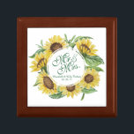 """Personalized Sunflower Wedding Gift Box<br><div class=""""desc"""">For further customization,  please click the """"Customize"""" button and use our design tool to modify this template. If the options are available,  you may change text and image by simply clicking on """"Edit/Remove Text or Image Here"""" and add your own. Designed by Freepik.</div>"""