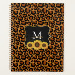 Personalized Sunflowers & Leopard Planner