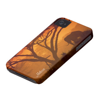 Personalized Sunset Elephant Case-Mate iPhone 4 Case