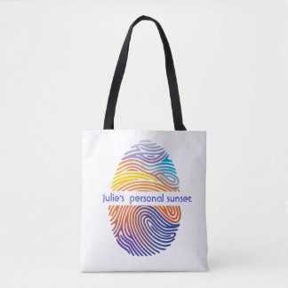 Personalized sunset tote bag