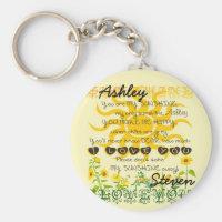 Personalized Sunshine Keychain