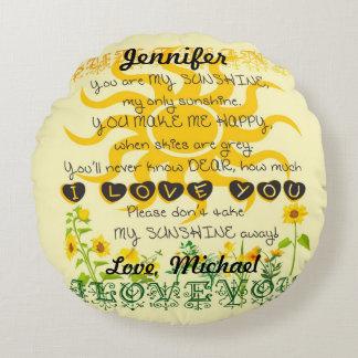 Personalized Sunshine Pillow