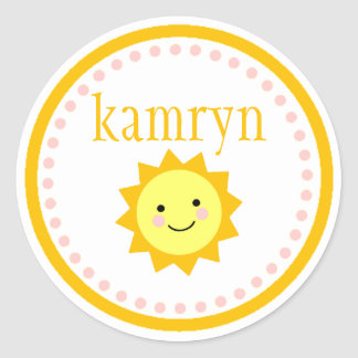 Personalized Sunshine Sticker - Dots