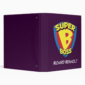 Personalized Super Boss 3 Ring Binder