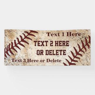 Personalized Super Cool Vintage Baseball Banner