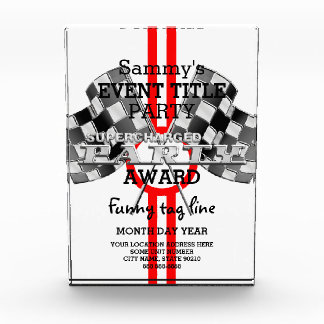 Personalized Supercharged Performance Party Acrylic Award