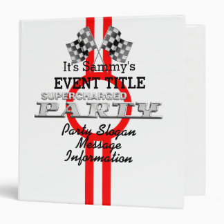 Personalized Supercharged Performance Party Binder