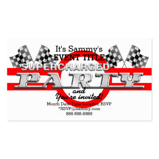 Personalized Supercharged Performance Party Business Card