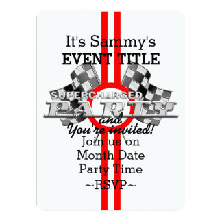 Personalized Supercharged Performance Party Card