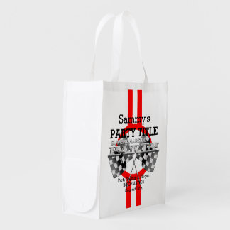 Personalized Supercharged Performance Party Grocery Bag