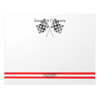 Personalized Supercharged Performance Party Notepad