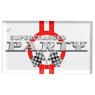 Personalized Supercharged Performance Party Place Card Holder
