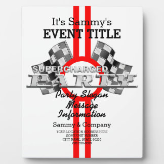 Personalized Supercharged Performance Party Plaque