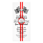 Personalized Supercharged Performance Party Rack Card